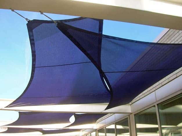 Portland tension shade structure